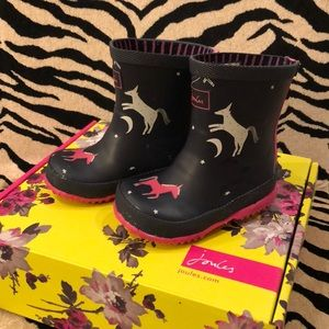 Joules toddler girl rain boots